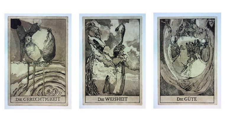 Drei der Tugenden, Comenius, in Kooperation mit Diemut Schilling